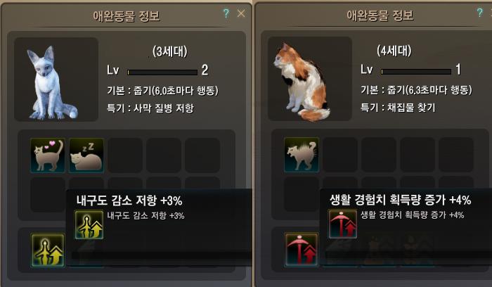 애완동물 고유 기술 추가